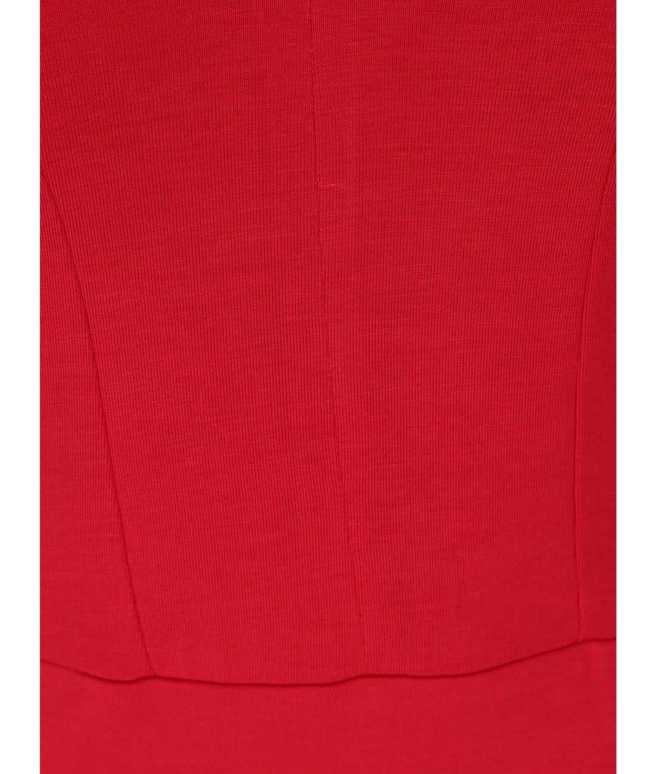 Červené dámské tričko s véčkovým výstřihem Pietro Filipi