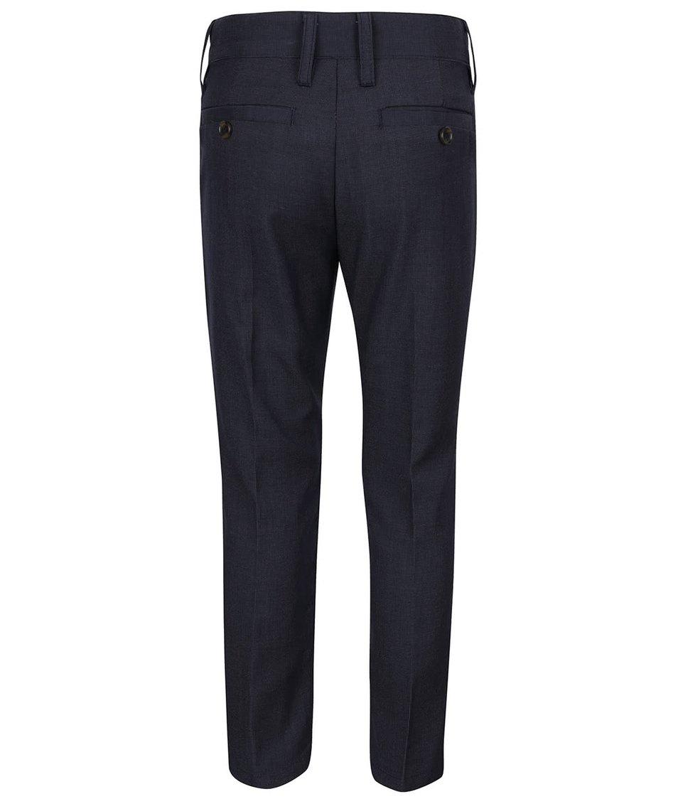 Tmavě modré klučičí formální kalhoty s jemným vzorem name it Holger