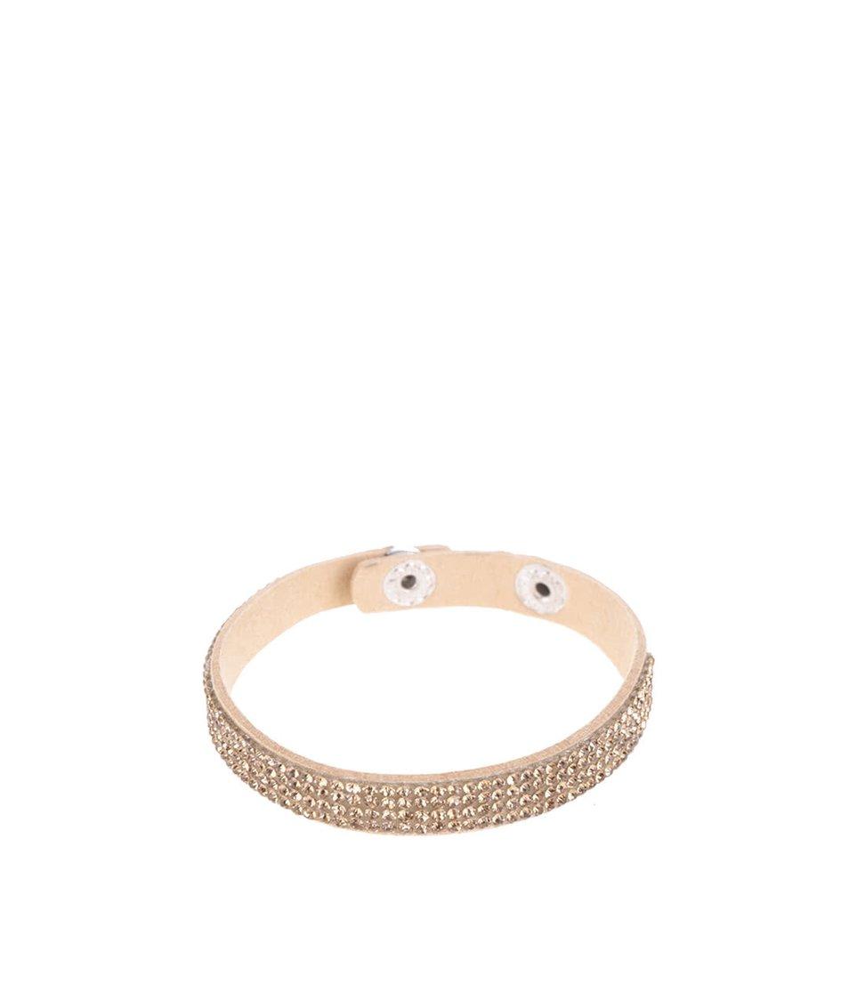 Béžový náramek s kamínky Haily´s Laila