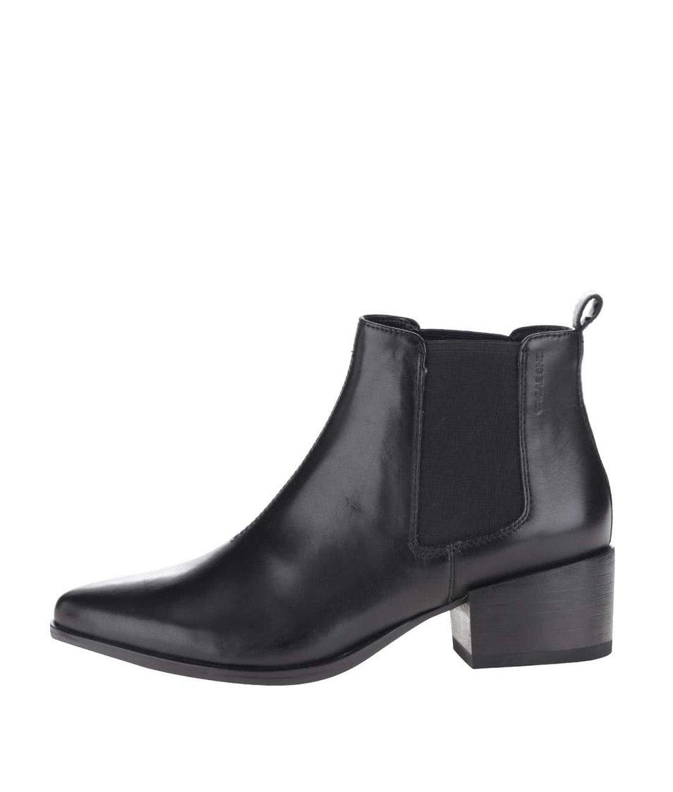 Černé dámské kožené chelsea boty Marja Vagabond