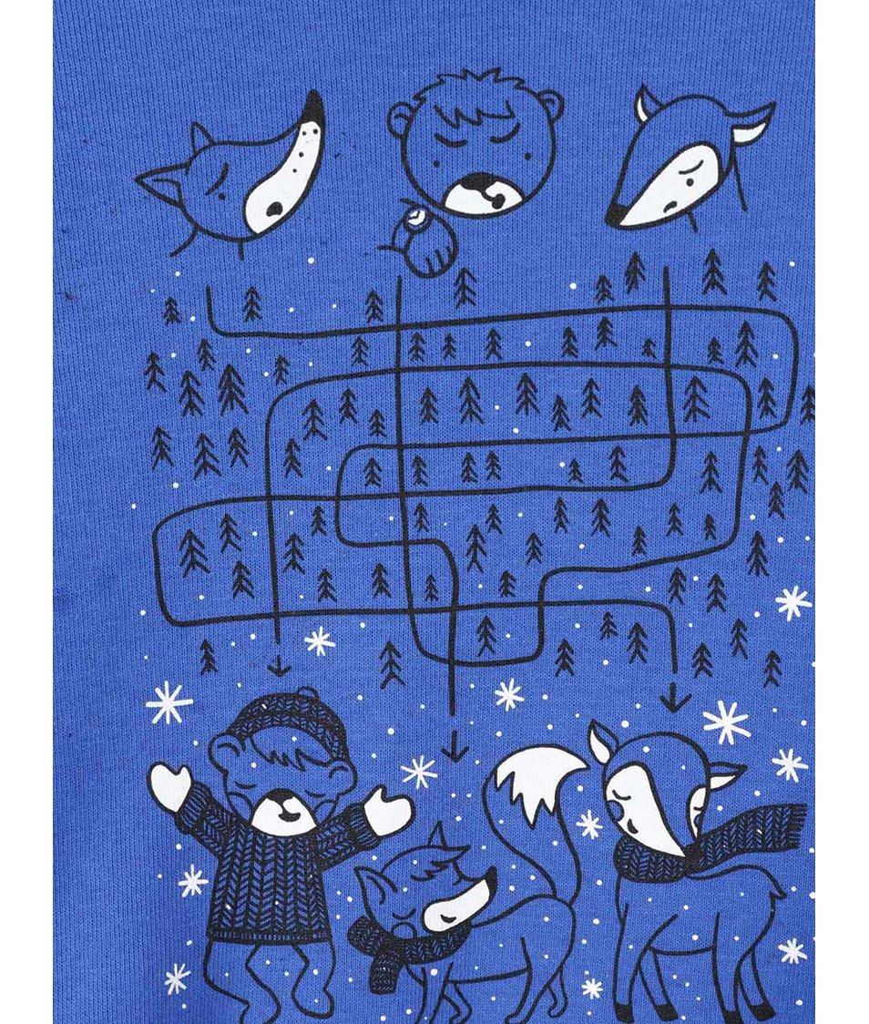 Modrá klučičí mikina s potiskem ZOOT Kids V lese