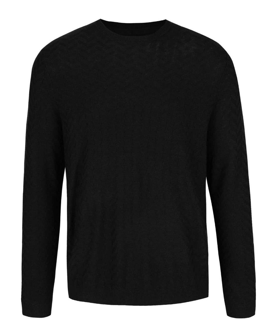Černý lehký svetr Burton Menswear London