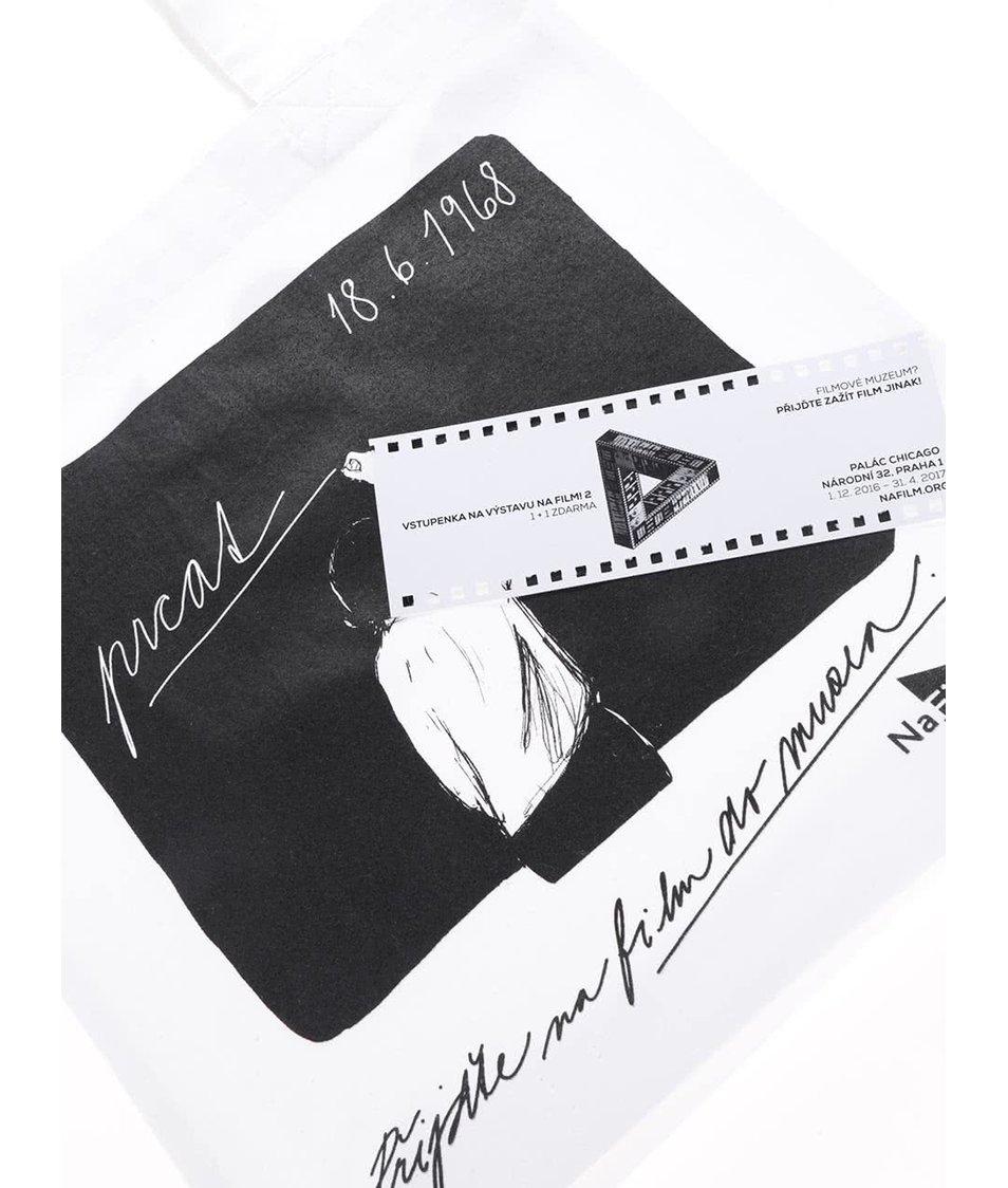 """""""Dobrá"""" bílá plátěná taška NaFILM Pelíšky"""