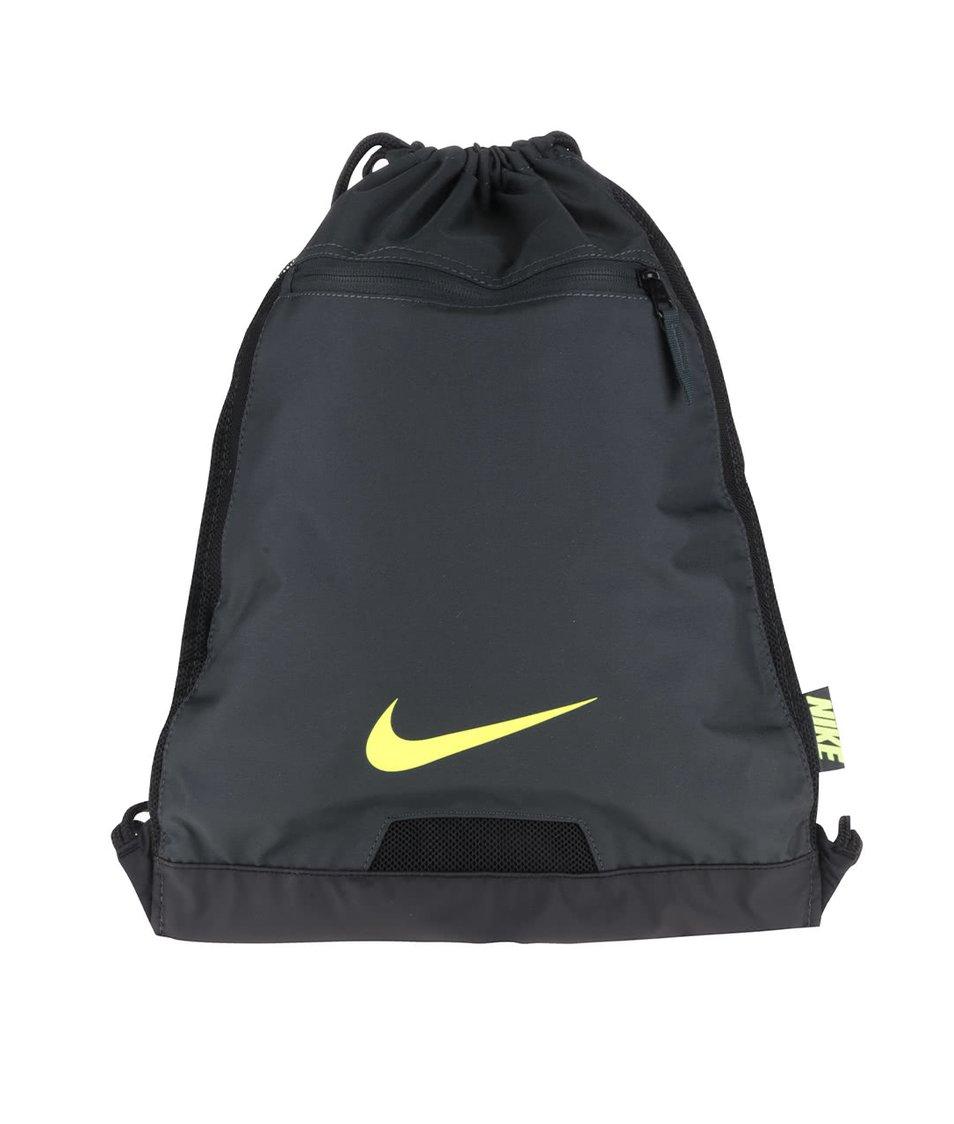 Tmavě zelený vak s logem Nike Alpha Gym
