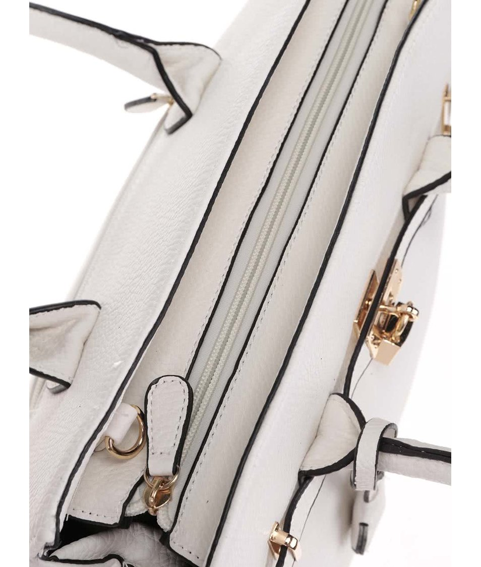 Bílá kabelka do ruky s detaily ve zlaté barvě Haily´s Heike