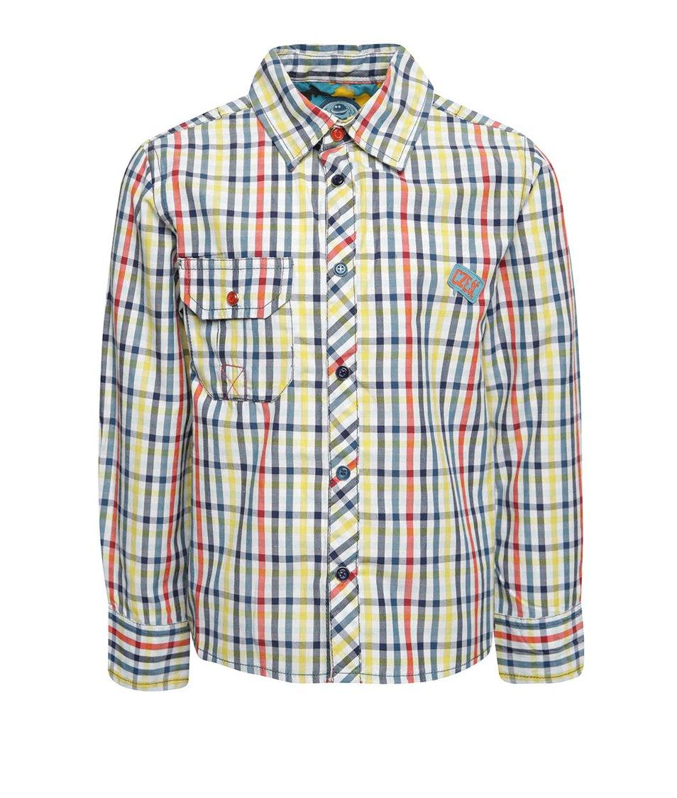 Modro-žlutá kostkovaná klučičí košile 5.10.15.