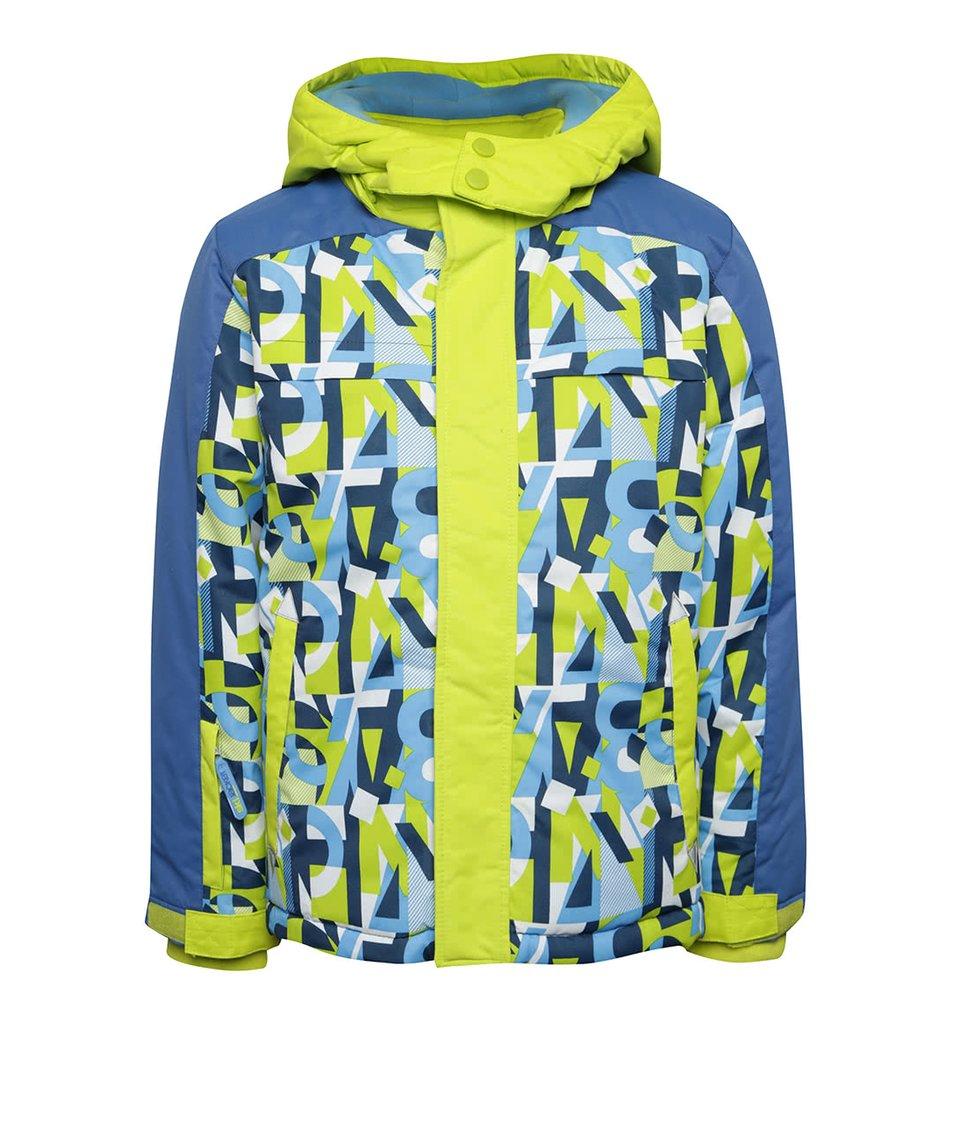 Modro-zelená klučičí zimní bunda se vzorem 5.10.15.