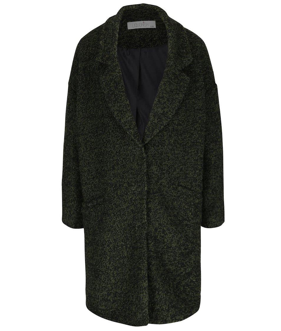 Khaki žíhaný kabát Liquorish