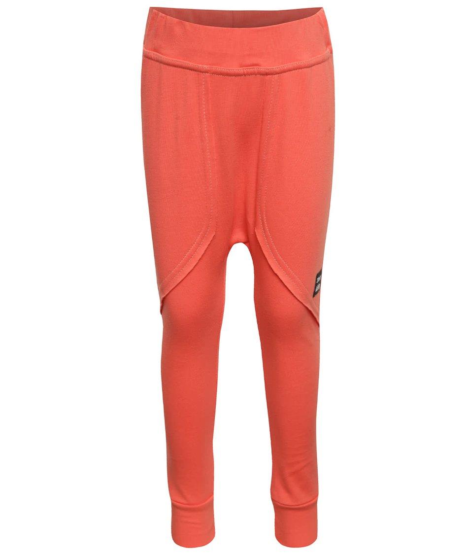 Oranžové holčičí tepláky s kapsami 3FnkyKids