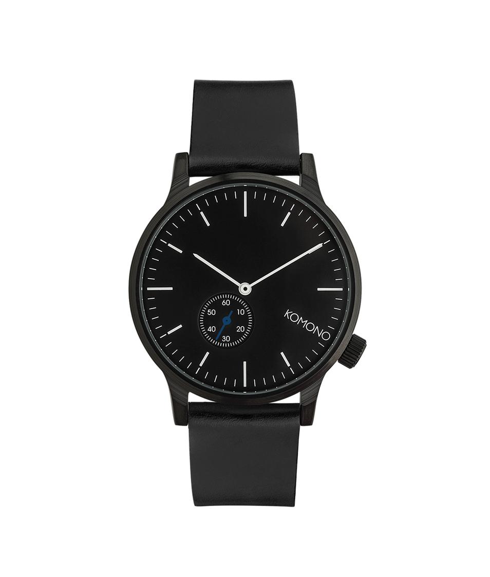 Černé pánské hodinky Komono Winston Subs