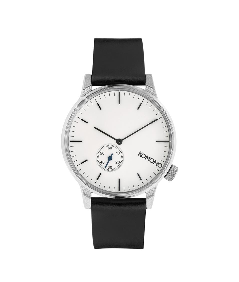 Černo-bílé unisex hodinky Komono Winston Subs