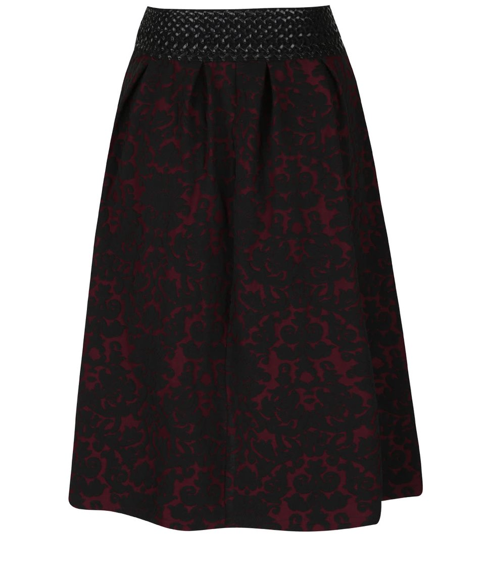 Černo-vínová vzorovaná sukně Alchymi