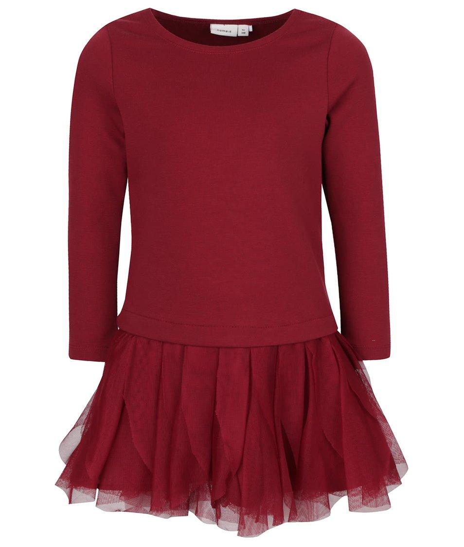 Vínové holčičí šaty name it Wemilla