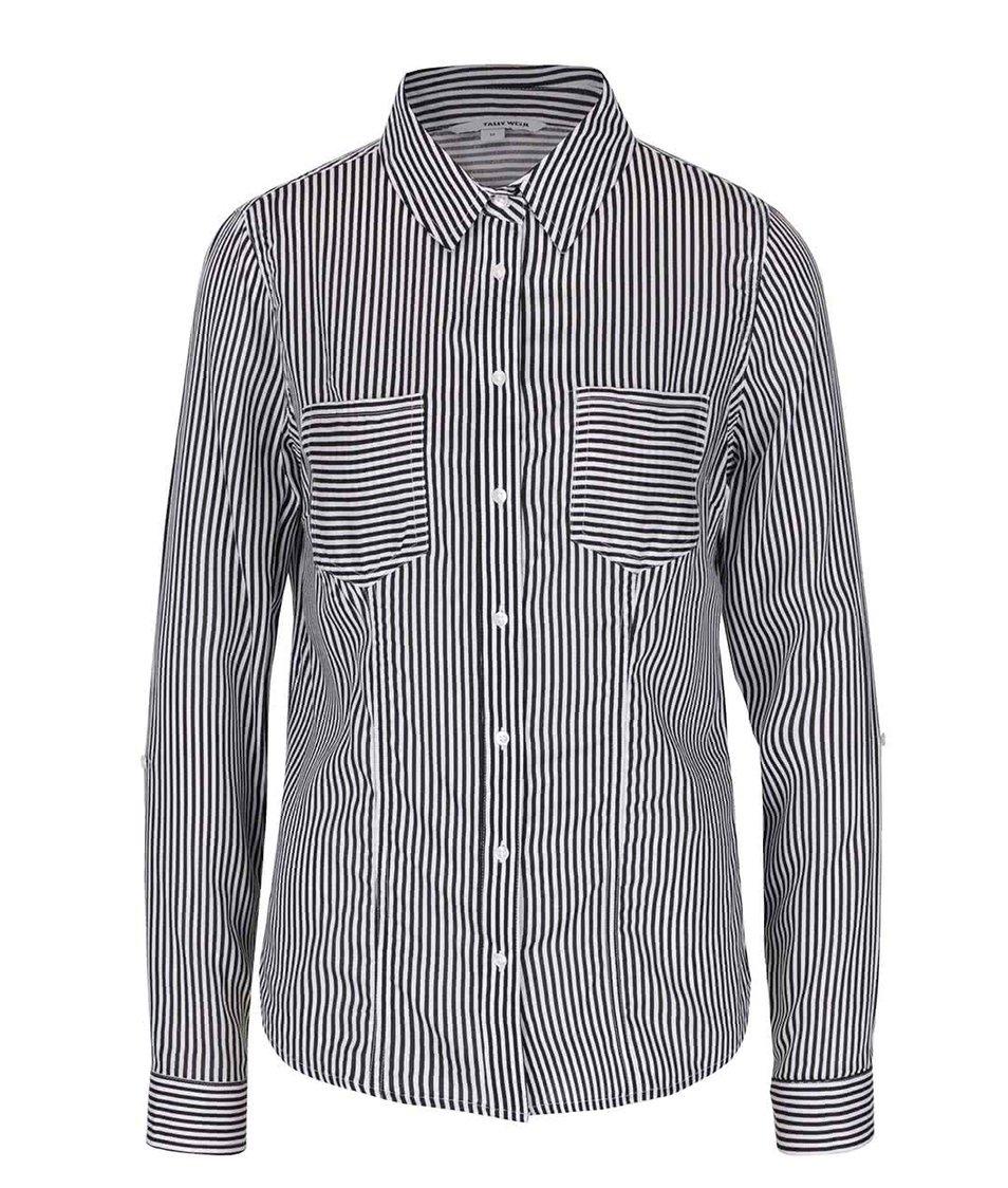Černo-bílá košile s kapsami TALLY WEiJL