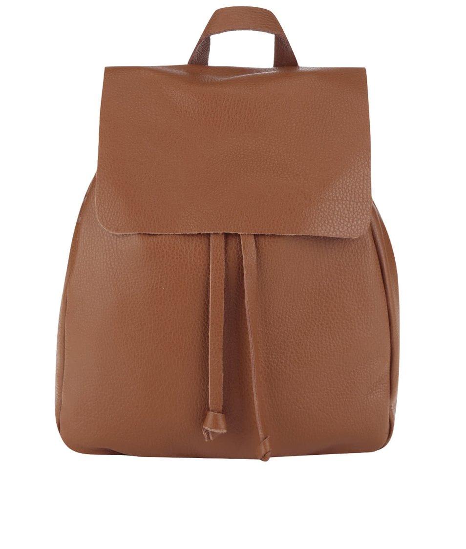 Hnědý kožený batoh ZOOT