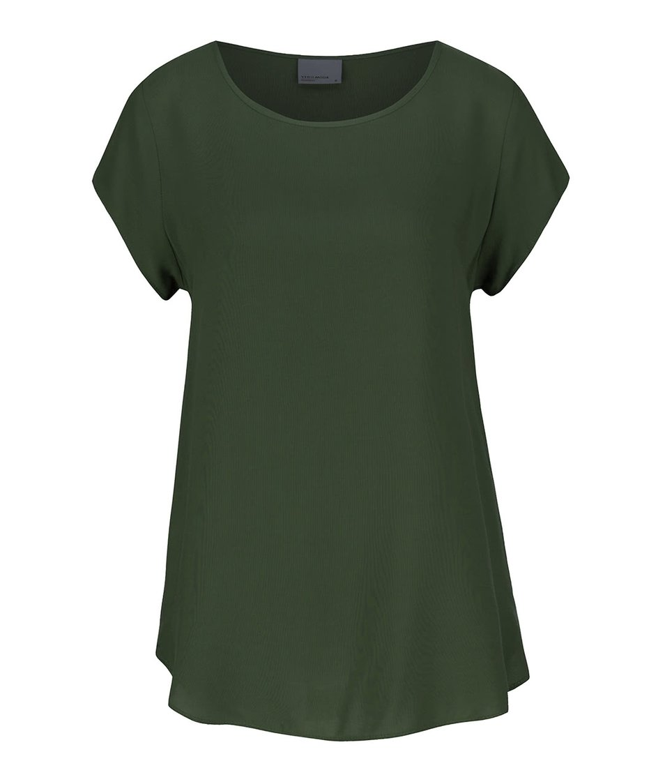 Tmavě zelený volnější top Vero Moda Boca