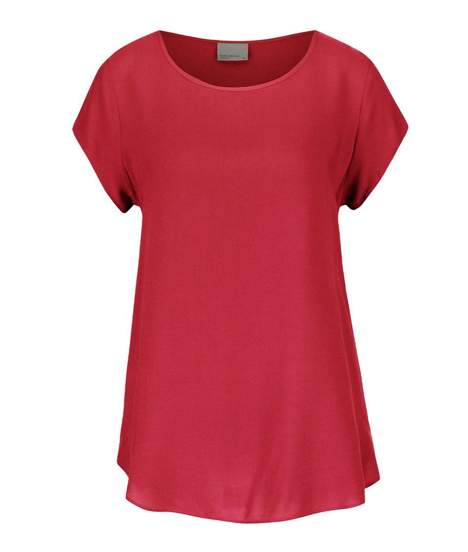 Tmavě růžový volnější top Vero Moda Boca