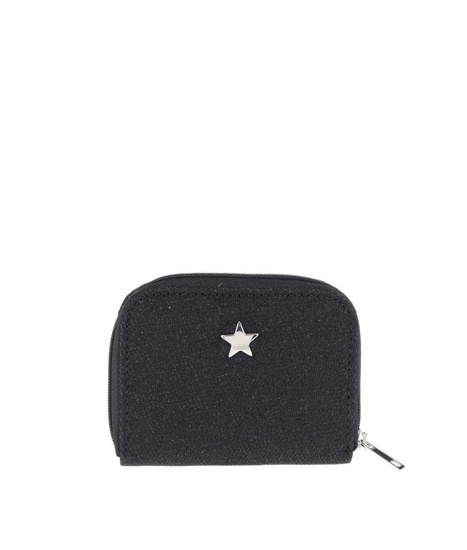 Černá menší třpytivá peněženka s hvězdou Dorothy Perkins