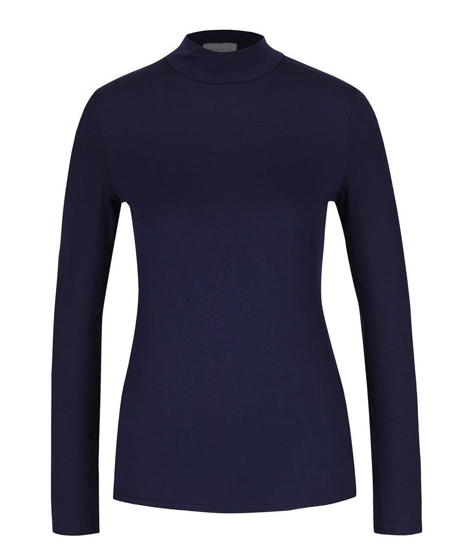 Tmavě modré tričko se stojáčkem Dorothy Perkins