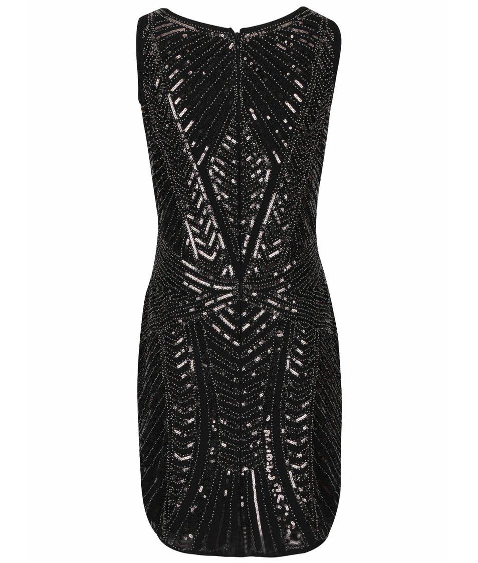 Černé šaty s flitry Mela London