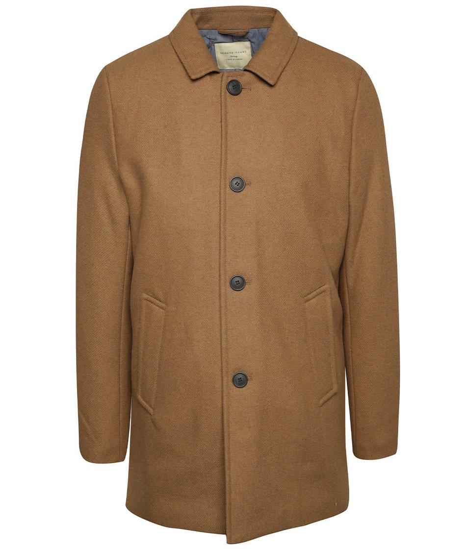 Světle hnědý kabát Selected Homme New Mash