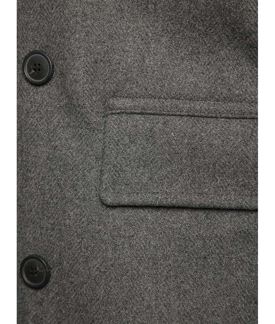 abc8abac0d3 Šedý kabát Selected Homme New Mercer - Akční cena