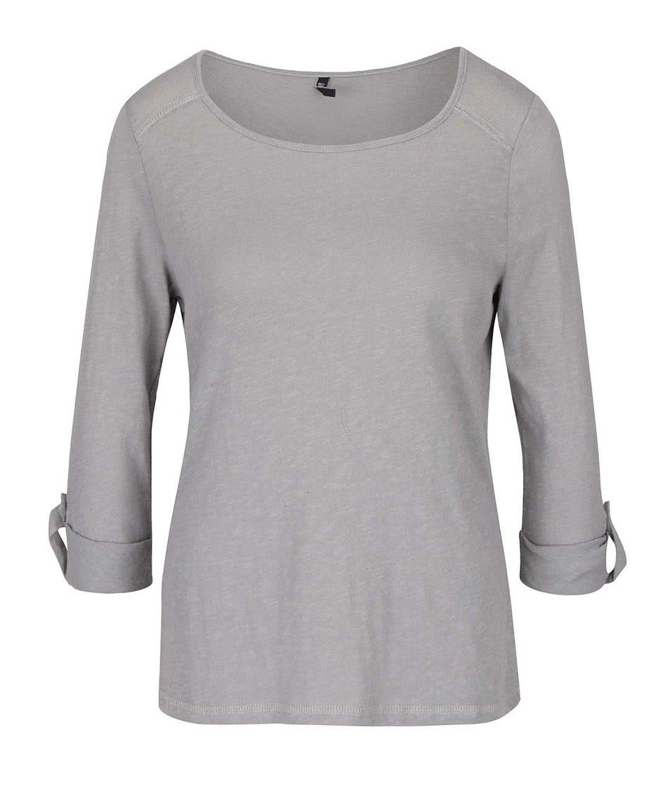 Šedé tričko s 3/4 rukávy Haily´s Ocie