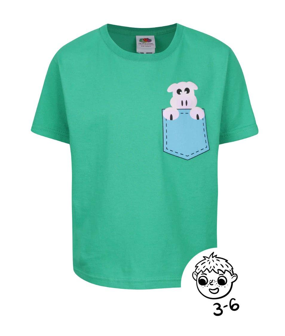Zelené klučičí triko s potiskem ZOOT Kids Prasátko