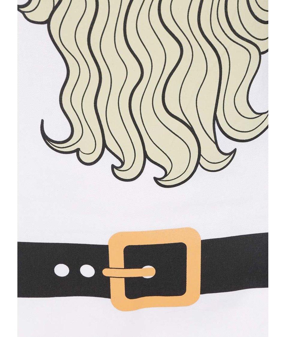 Bílá zástěra s potiskem vousů ZOOT Originál Vousy