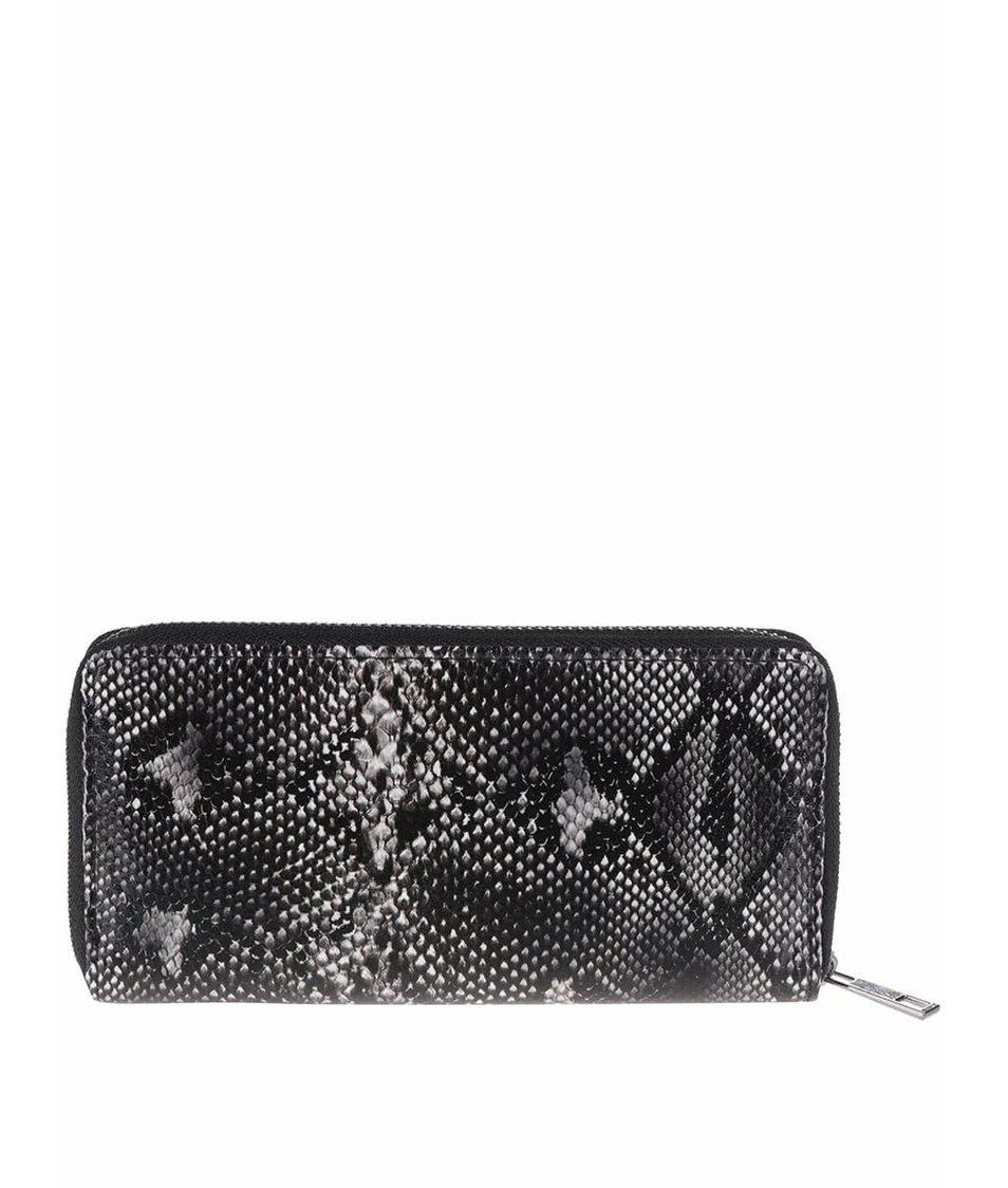 Krémovo-černá peněženka s hadím vzorem Haily´s Kathi Snake