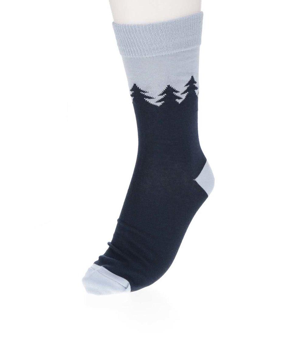 Tmavě modré ponožky s motivem lesa ZOOT Originál