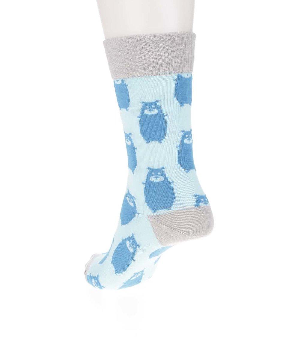 Modré ponožky s motivem medvěda ZOOT Originál