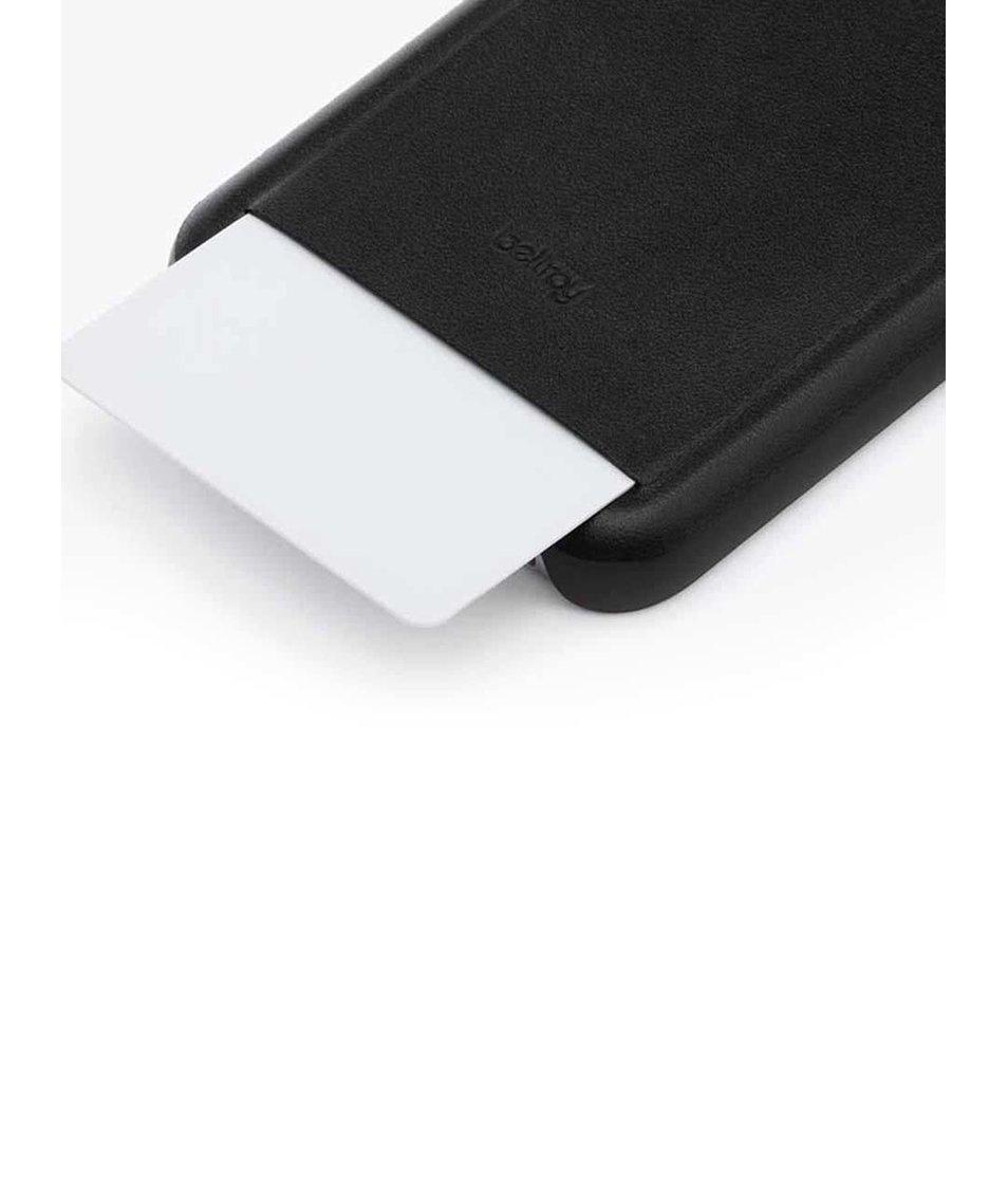 Černý kožený kryt pro iPhone 6/6s s přihrádkou na platební kartu Bellroy