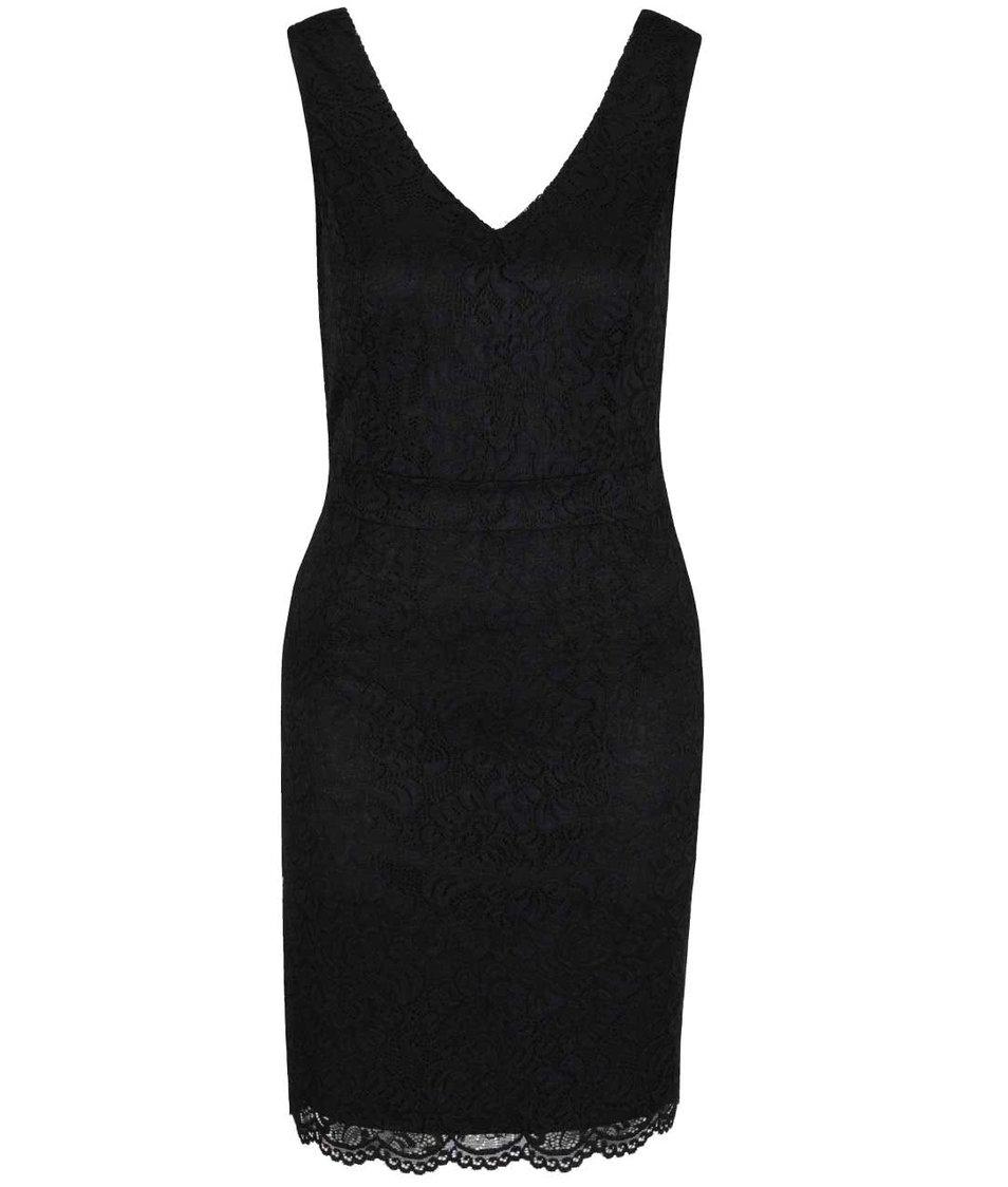 Černé krajkované šaty ONLY Bobbie