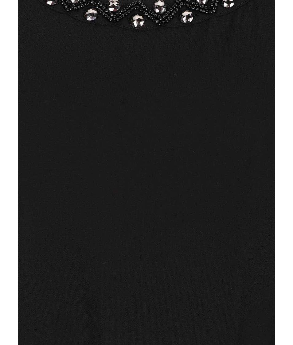 Černé šaty se zdobením v dekoltu ONLY Berit