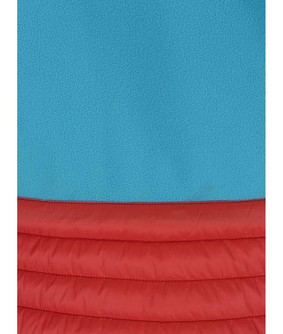 Červená dámská funkční prošívaná bunda s kapucí Geox