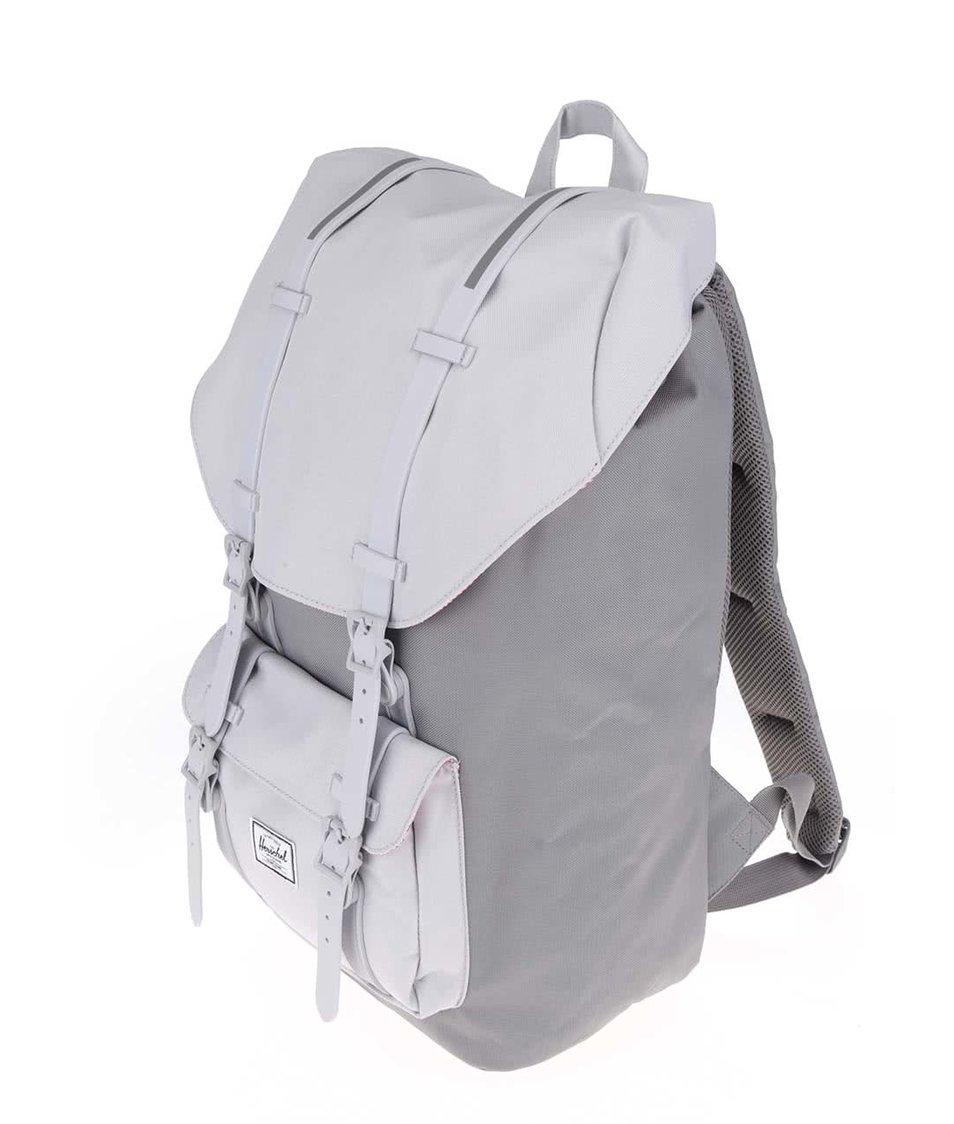 Šedý batoh s šedými popruhy Herschel Little America