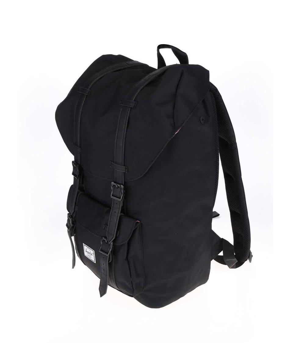 Černý batoh s černými popruhy Herschel Little America