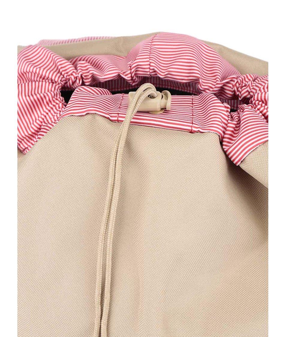 Béžový batoh s hnědými popruhy Herschel Little America