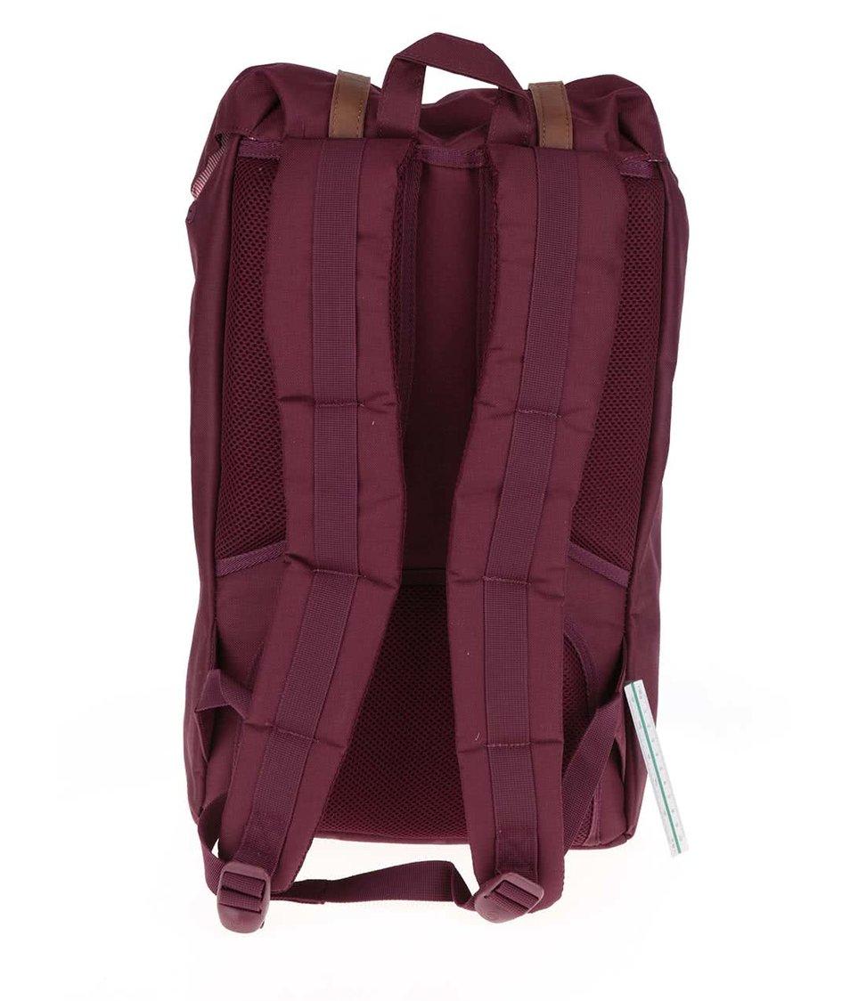 Vínový batoh s hnědými popruhy Herschel Little America