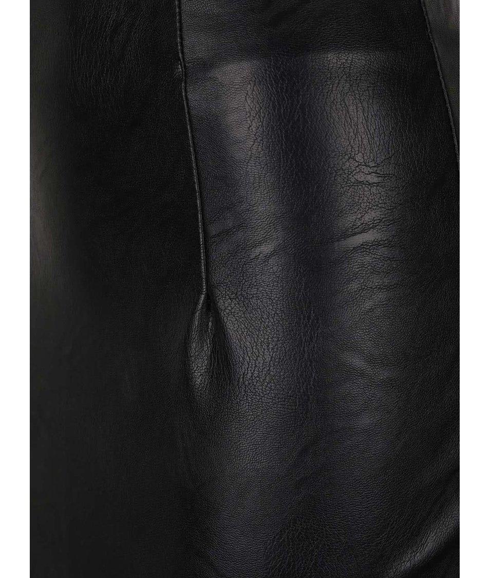 Černá koženková sukně ZOOT