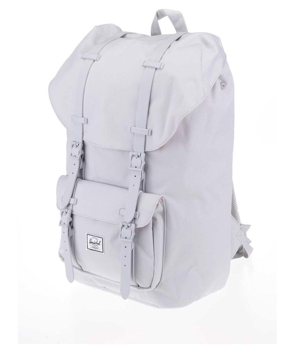 8f92705665 Světle šedý batoh s šedými popruhy Herschel Little America - SLEVA ...