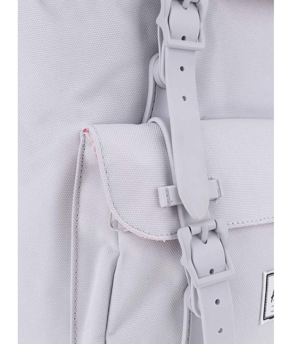 Světle šedý batoh s šedými popruhy Herschel Little America