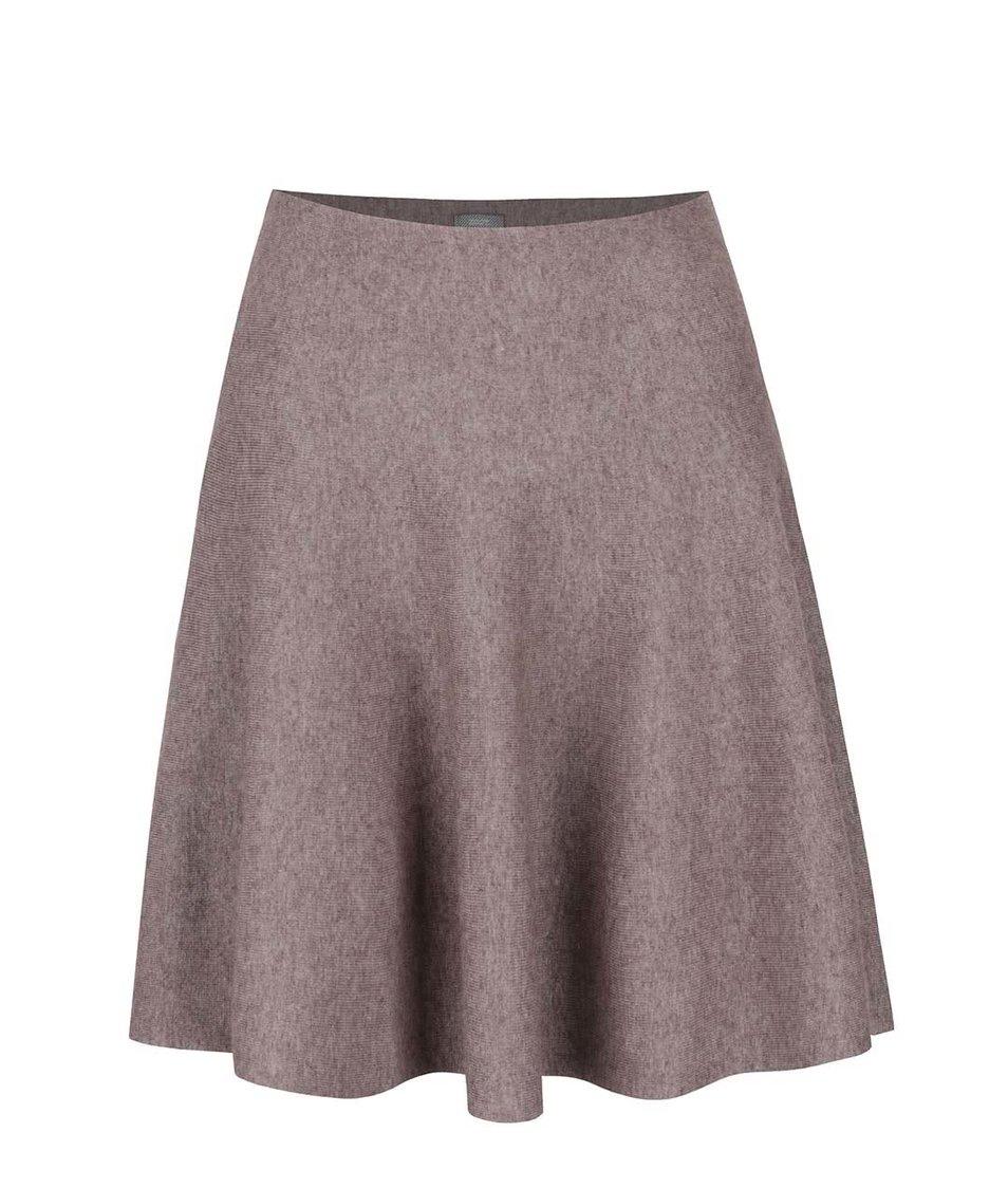 Světle hnědá žíhaná sukně ZOOT
