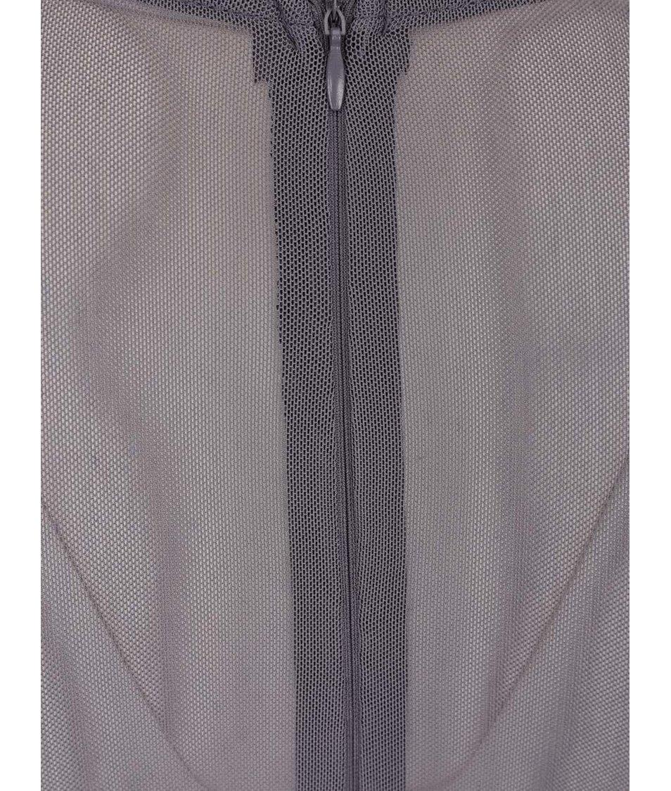 Šedé dlouhé večerní šaty s krajkovaným topem AX Paris