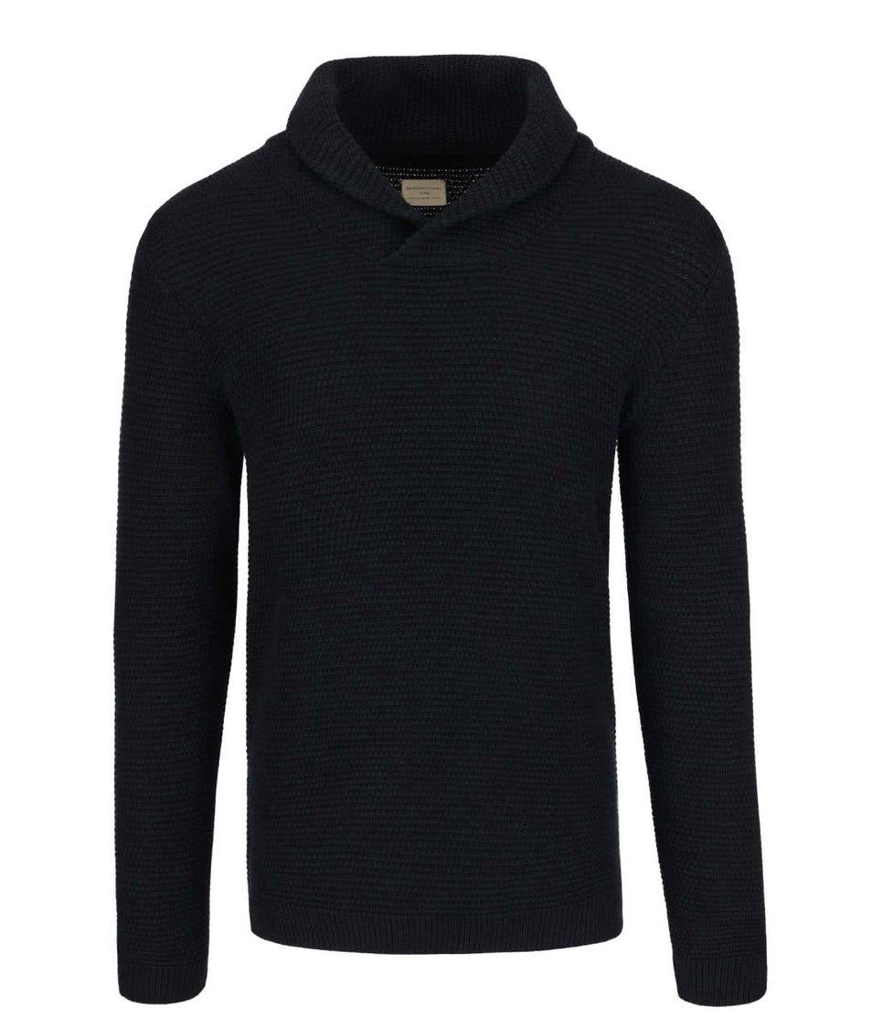 Tmavě modrý svetr s vysokým límcem Selected Homme New Win Cebubble