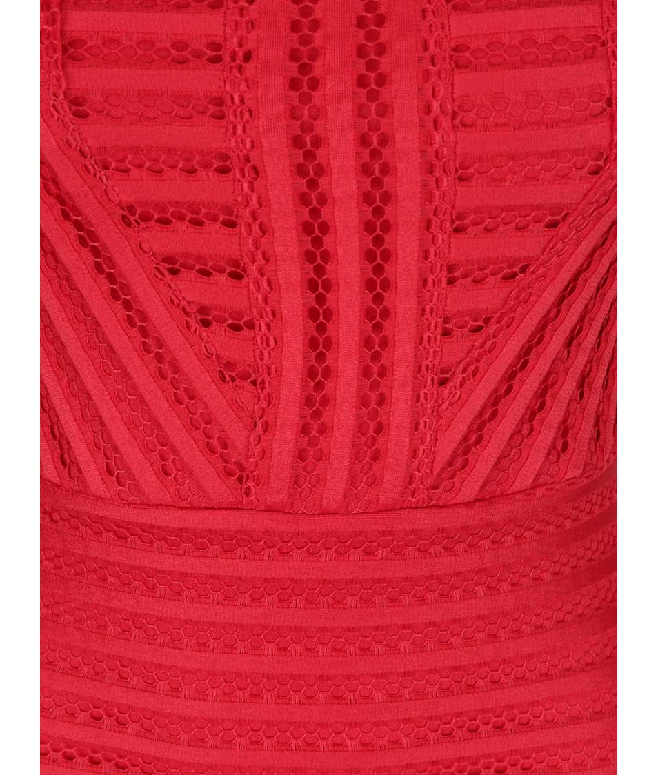 Červené vzorované midišaty AX Paris