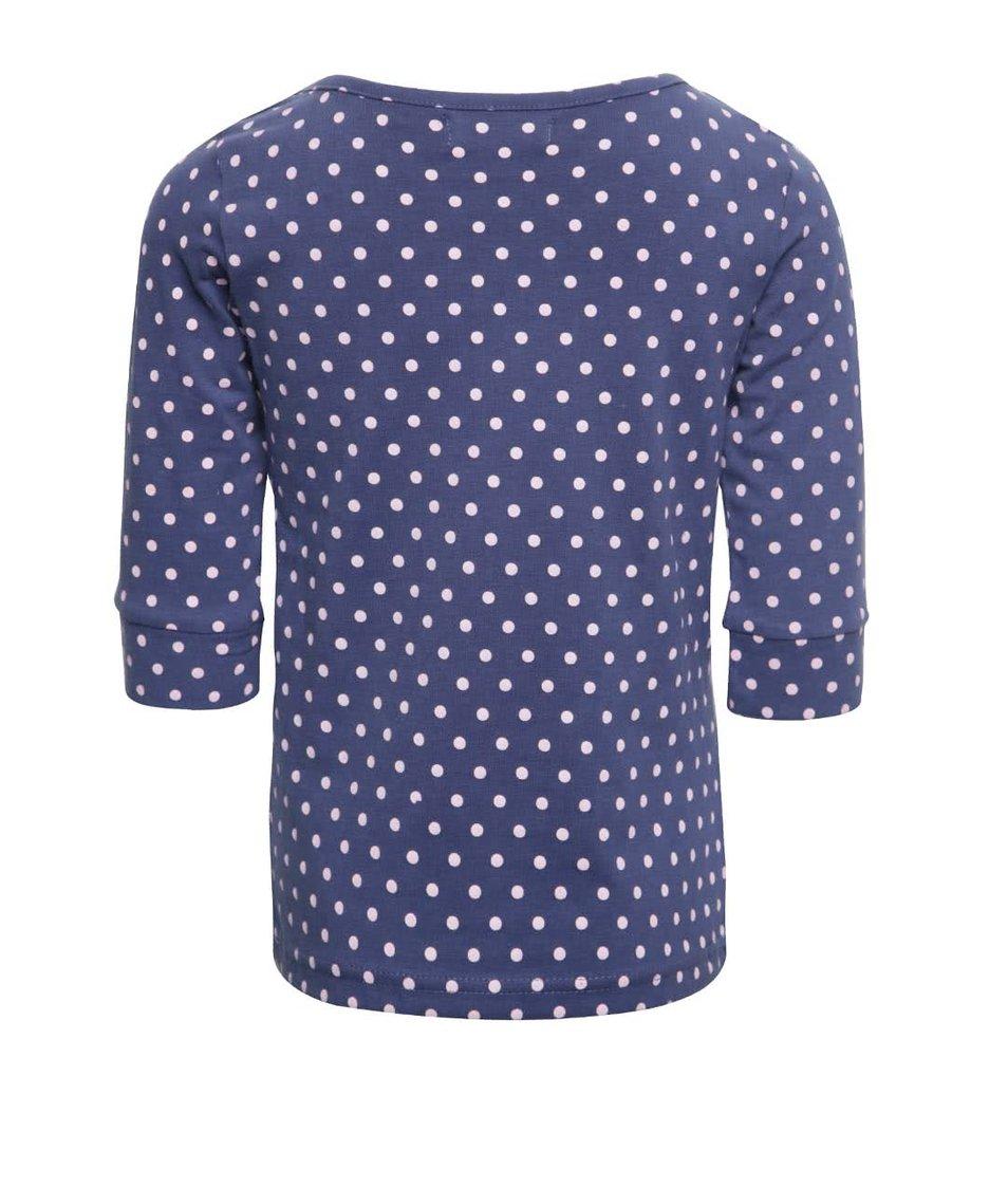Modré holčičí tričko s dlouhým rukávem 5.10.15.