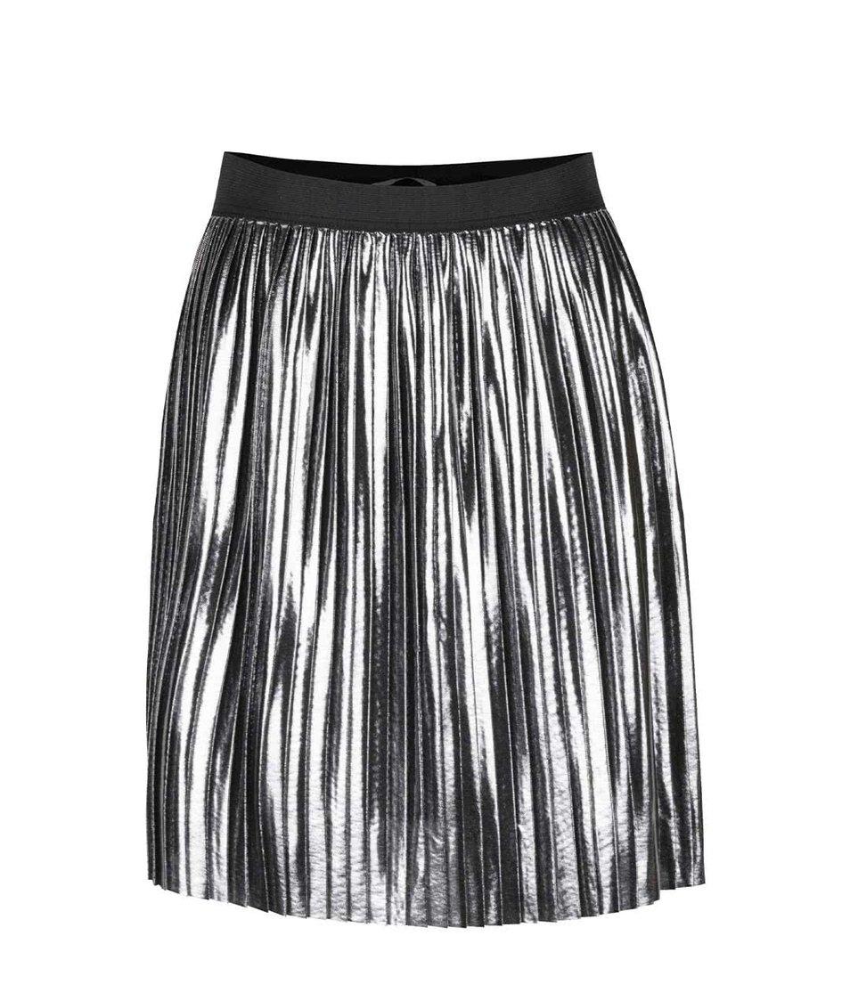 Plisovaná sukně ve stříbrné barvě ONLY Lucile