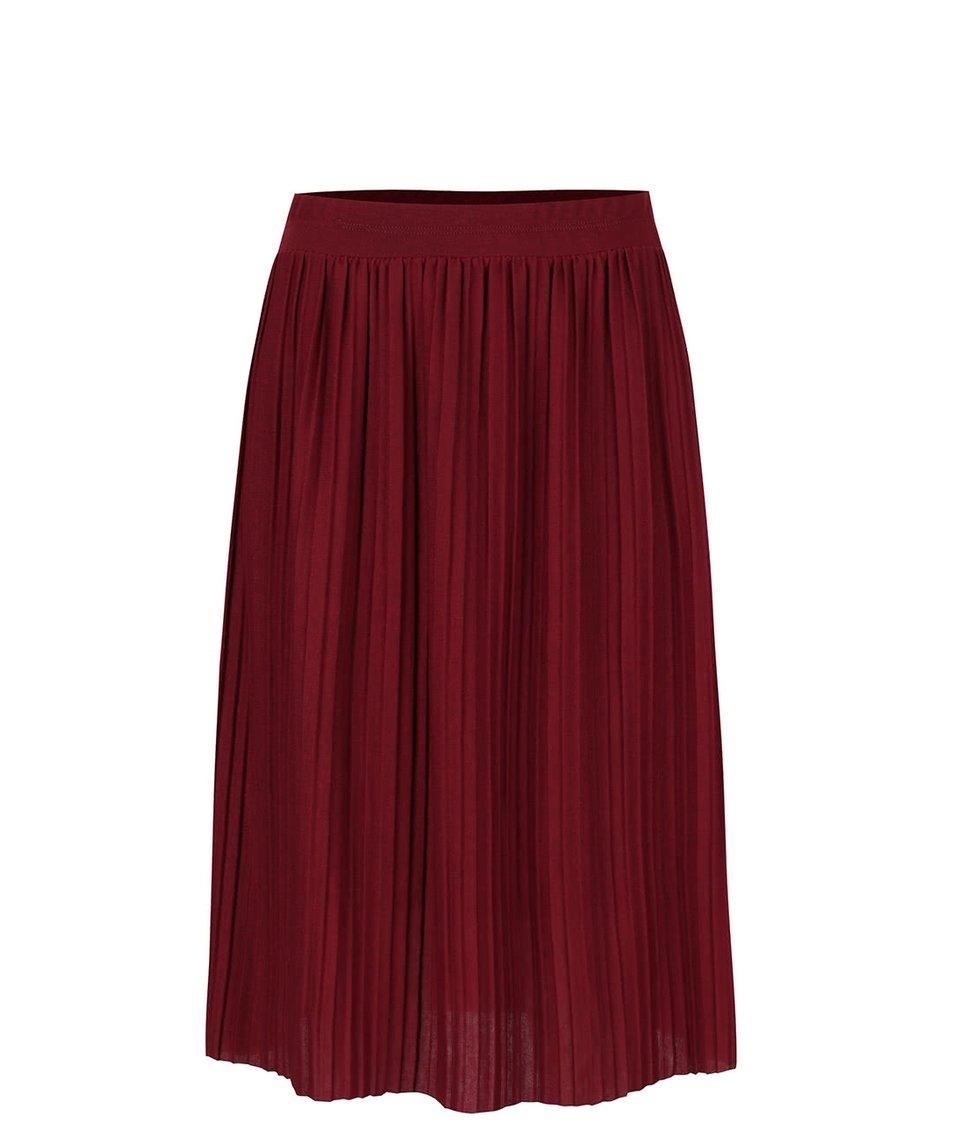 Vínová plisovaná sukně Alchymi Anya